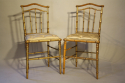 Giltwood bamboo side chairs - picture 5