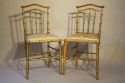 Giltwood bamboo side chairs - picture 6