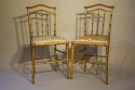 Giltwood bamboo side chairs - picture 7