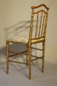 Giltwood bamboo side chairs - picture 8