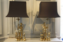 A pair of bronze Buddha table lamps. c1970 - picture 5