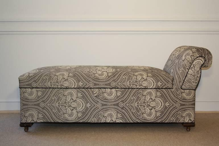 With Victorian CompartmentEnglish Longue Late Chaise C1900 Storage HD2EI9W