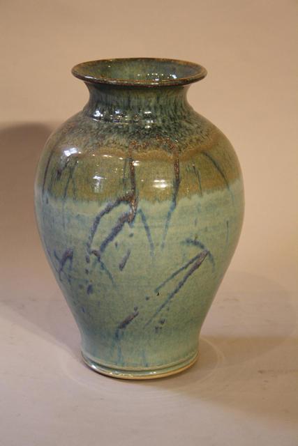 Turquoise glazed vase