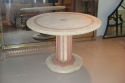 An Art Deco coral stone and red marble outside table. French - picture 2