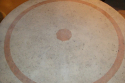 An Art Deco coral stone and red marble outside table. French - picture 3