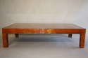 Vintage 1970`s orange and gold lacquered coffee table. - picture 1