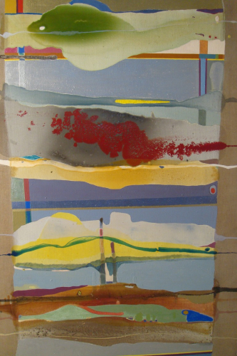 Large Oak framed abstract by Ursula Kellett,
