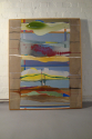 Large Oak framed abstract by Ursula Kellett, - picture 2