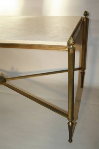 Gilt metal and marble table