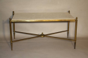 Gilt metal and marble table - picture 3