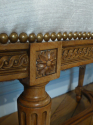 Beautifully carved wood Louis Philippe seat. French. Re upholstered in cream velvet - picture 3