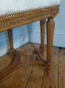 Beautifully carved wood Louis Philippe seat. French. Re upholstered in cream velvet - picture 4