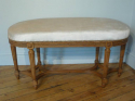 Beautifully carved wood Louis Philippe seat. French. Re upholstered in cream velvet - picture 5