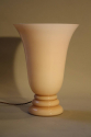 Art deco lamp, pale pink opaque glass, French 1930 - picture 1