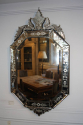 Antique Venetian shield shaped mirror, C1900 - picture 2