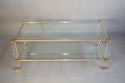 Pierre Vandel two tier lucite and glass coffee table - picture 1