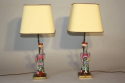 A pair of Chinese Famille Rose ceramic Phoenix bird lamps, French c1930 - picture 2