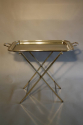 Silver plated tray table, French c1950 - picture 3