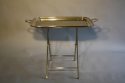Silver plated tray table, French c1950 - picture 5