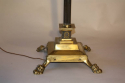 A pair of telescopic, brass lion paw floor lamps, English c1920 - picture 2