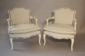 A pair of Antique French Napoleon III fauteuils, c1880 - picture 3