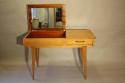 Herringbone veneered wood dressing table - picture 3