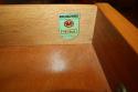 Herringbone veneered wood dressing table - picture 4