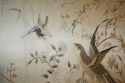 A large hand embroidered textile of birds and flowers - picture 5