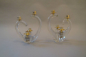 1960`s glass candlesticks by Schneider, signed to base. French - picture 1