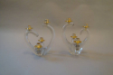 1960`s glass candlesticks by Schneider, signed to base. French - picture 2