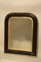 Petite black and gold archtop mirror - picture 1