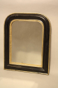 Petite black and gold archtop mirror - picture 2