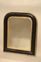 Petite black and gold archtop mirror - picture 3