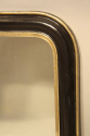 Petite black and gold archtop mirror - picture 4