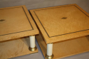 A pair of Italian burr maple end tables - picture 4
