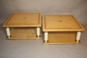 A pair of Italian burr maple end tables - picture 8