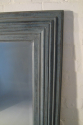 A pair of large pale blue mirrors made from 19thC architrave and fitted with antique bevelled mirror glass - picture 5