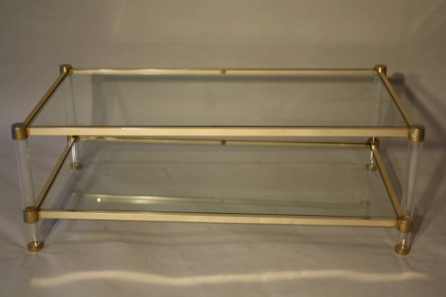 Perspex two tier coffee table