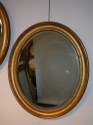 A pair of antique gold leaf oval mirrors, with bevelled glass plates, French c1850 - picture 3