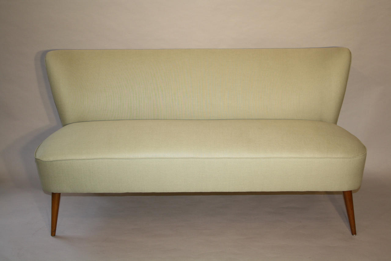Pistachio Green 1950's Danish sofa