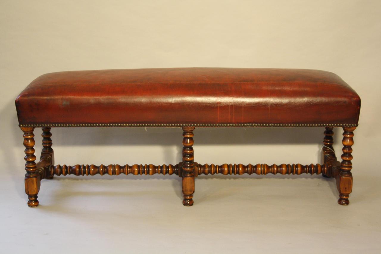 valenti red leather bench in furniture -  valenti red leather bench  picture