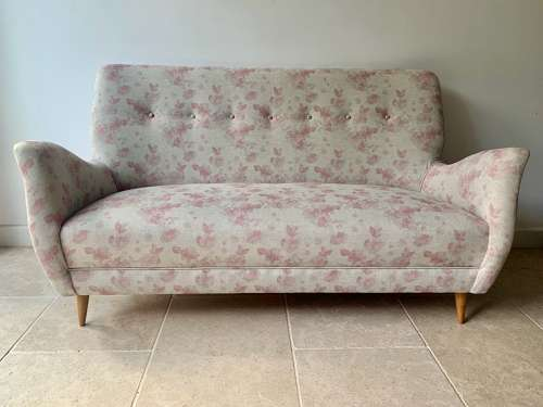 Italian button 1950's sofa