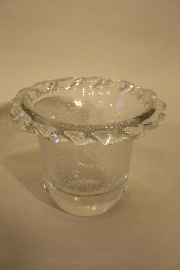 Daum glass bubble vase