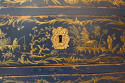 Dark blue Chinoiserie chest of drawers - picture 11