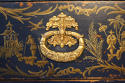 Dark blue Chinoiserie chest of drawers - picture 6