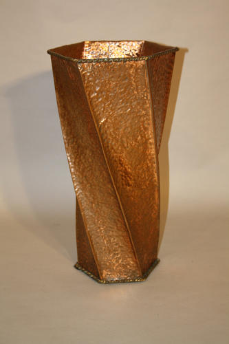 Hammered copper stick/umbrella stand