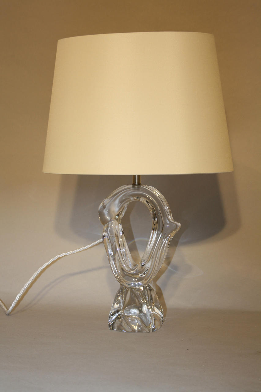 Daum glass table lamp