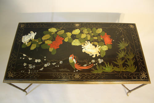 Chinoiserie table in the manner of Bagues