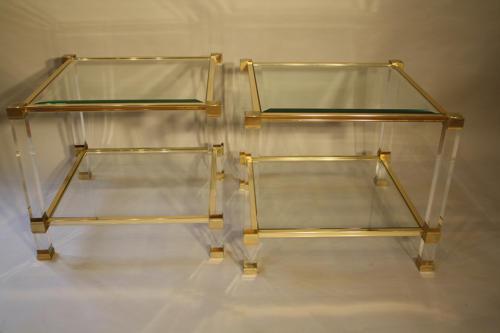 A pair of Pierre Vandel side tables