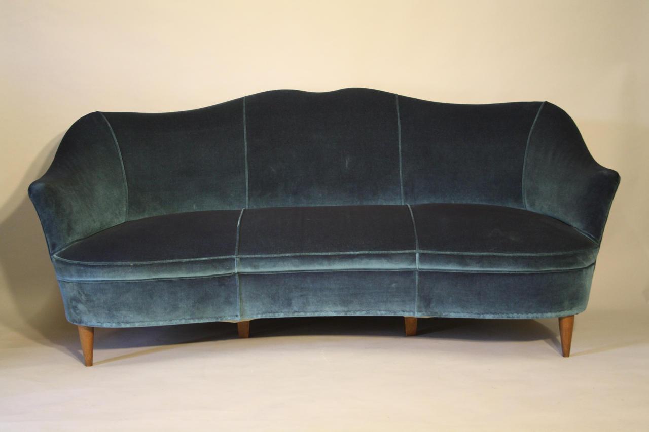 Italian curved sofa